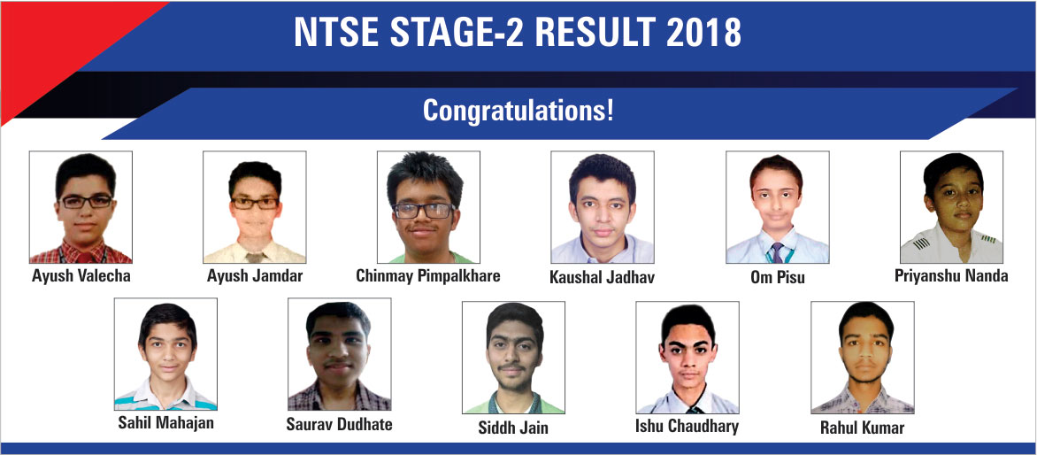 NTSE Result 2018 of Rao IIT Academy