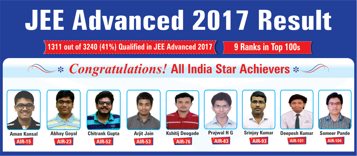 Rao IIT Academy JEE Advanced 2017 Result